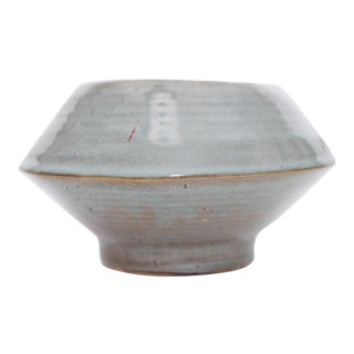 Arts and Crafts Glazed Clay Cylindrical Mushroom Bowl For Sale