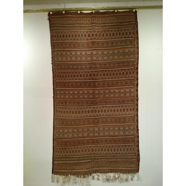 Vintage Uzbek Kilim Rug - 3′7″ × 6′7″ For Sale - Image 10 of 10