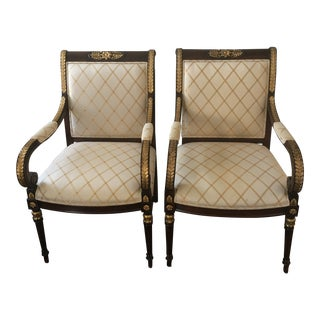 Ej Victor Nicolette Arm Chairs- A Pair For Sale