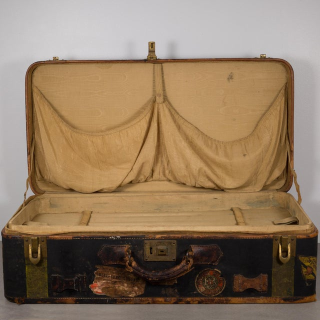 Antique Luggage With Original Travel Stickers C.1900-1930 For Sale - Image 10 of 11