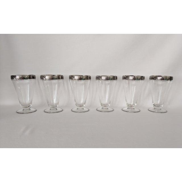 Silver Embossed Dessert Glasses – Set of 6 For Sale - Image 4 of 11