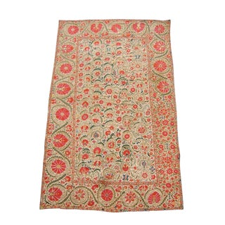 Suzani Embroidered Textile For Sale