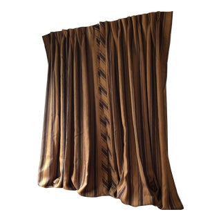 Custom Made Striped Linen Window Treatments Drapes For Sale