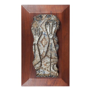 Abstract Ceramic Sculpture by Arnold Geissbuhler For Sale