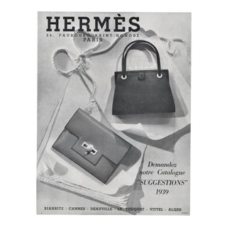 Matted Vintage Art Deco Hermes Print-Handbags For Sale