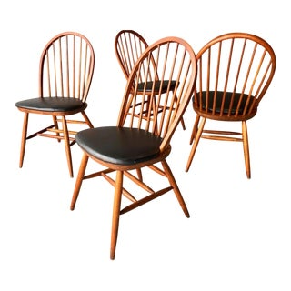 Mid Century Modern Hoop Back Windsor Style Chairs - Set of 4 For Sale