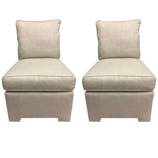 Billy Baldwin Style Club Slipper Chairs - A Pair