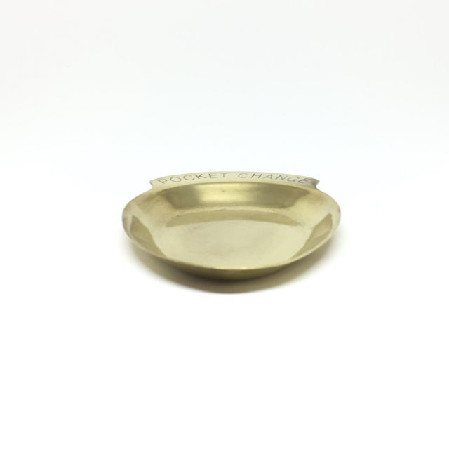 "Vintage Mid Century ""Pocket Change"" Brass Tray - Image 4 of 5"