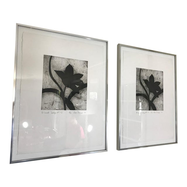 Modern Matching Flower Prints - A Pair - Image 7 of 7