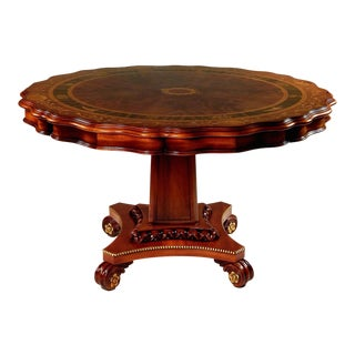 Neoclassical Mahogany Armando Rho Side Table For Sale