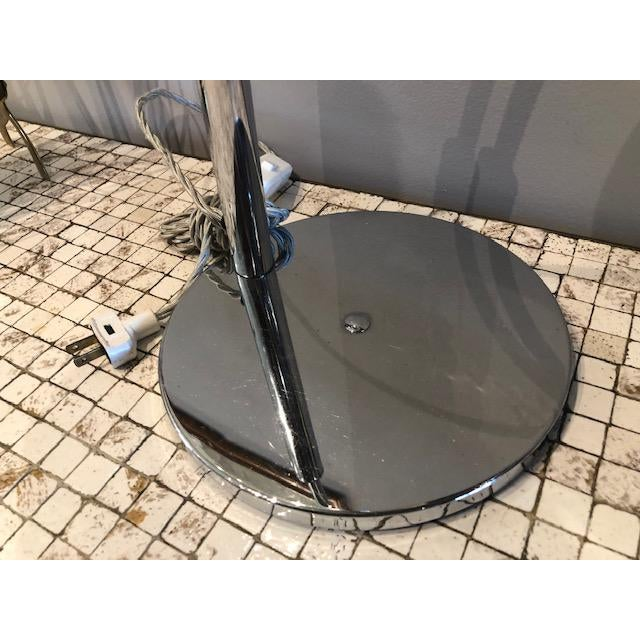 Metal Mod Chrome Arc Modern Desk Lamp For Sale - Image 7 of 9