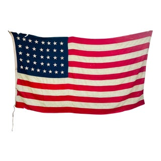 Antique 1800s 37 Star American Flag With Hand Sewn Stars For Sale