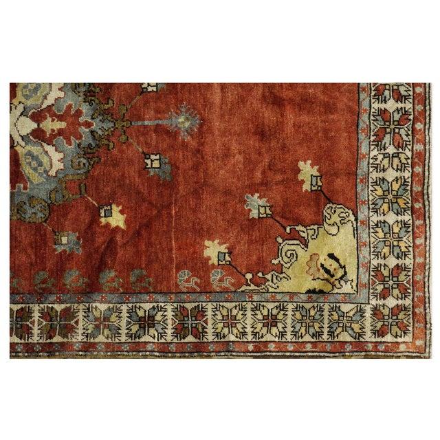 Islamic Vintage Turkish Oushak Rug - 5′9″ × 9′9″ For Sale - Image 3 of 4