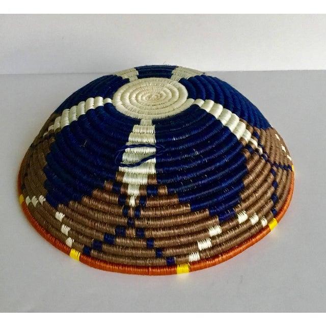 African Boho Woven Basket - Image 3 of 8
