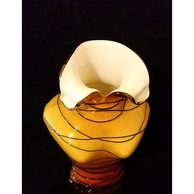 Glass Woman's Torso Vase For Sale - Image 4 of 7