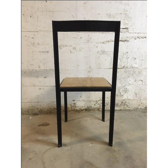 Steel & Wooden Chair by Henry MacNeill For Sale - Image 4 of 6