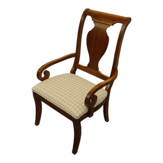 Stanley Furniture Encore Collection Cherry Dining Arm Chair For Sale