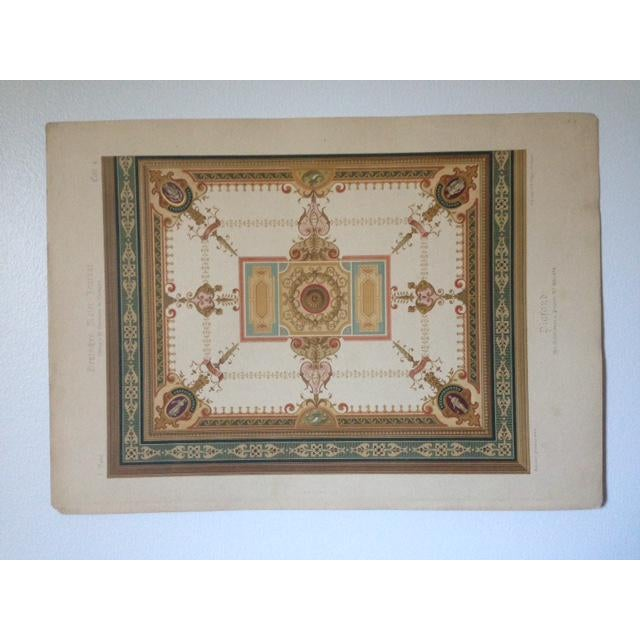 German Architectural Decorative Chromolithograph - Image 2 of 4