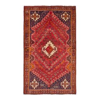 "Shiraz Qashqai Vintage Persian Rug - 4'10"" x 8'2"""