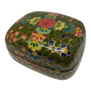Vintage Hand Made Lacquered Trinket Box
