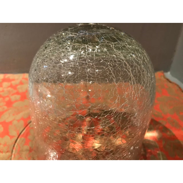 Traditional 20th Century Traditional Crackled Glass Bell Display Cloche For Sale - Image 3 of 7