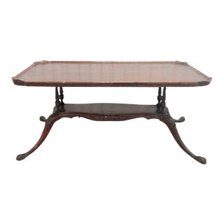 20th Century Chippendale Mahogany Coffee Table For Sale