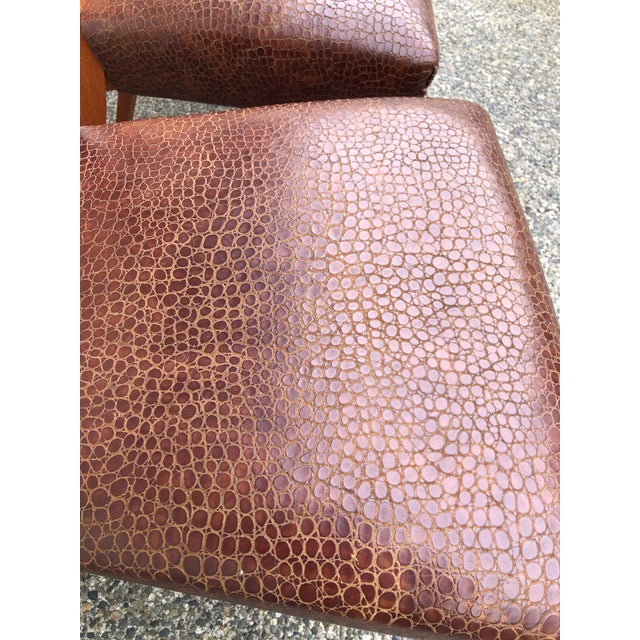 Animal Skin Modern Dakota Jackson Aldabhra Side Chairs- Set of 4 For Sale - Image 7 of 8