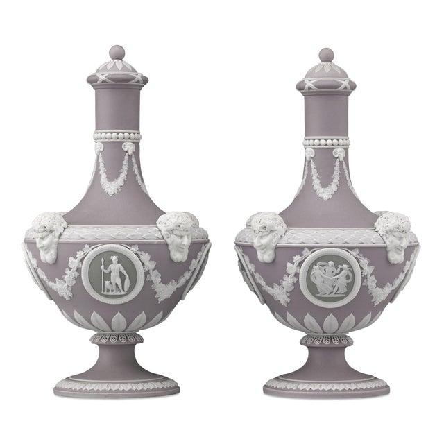 19th Century Wedgwood Tri-Color Barber Bottles For Sale - Image 5 of 5