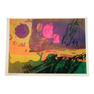 """Vintage Abstract Lithograph-Sister Mary Corita Kent - """"Still Falls the Rain"""" For Sale"""