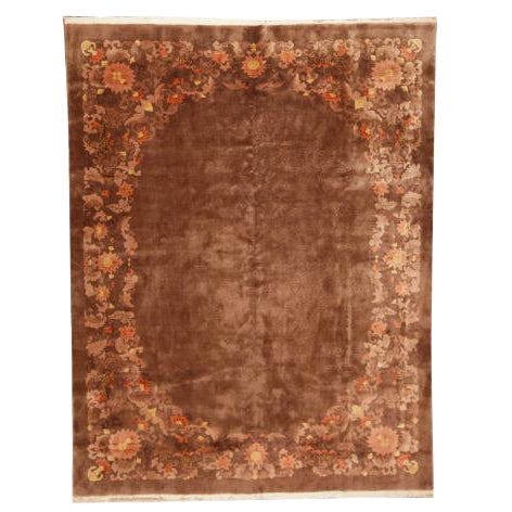 Antique Chinese Nichols Carpet For Sale