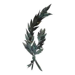 Antique French Sterling Silver Laurel & Oak Tree Honour Award For Sale