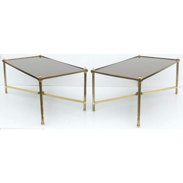 Gold 1960s Mid-Century Modern Maison Bagues Coffee Tables - a Pair For Sale - Image 8 of 8