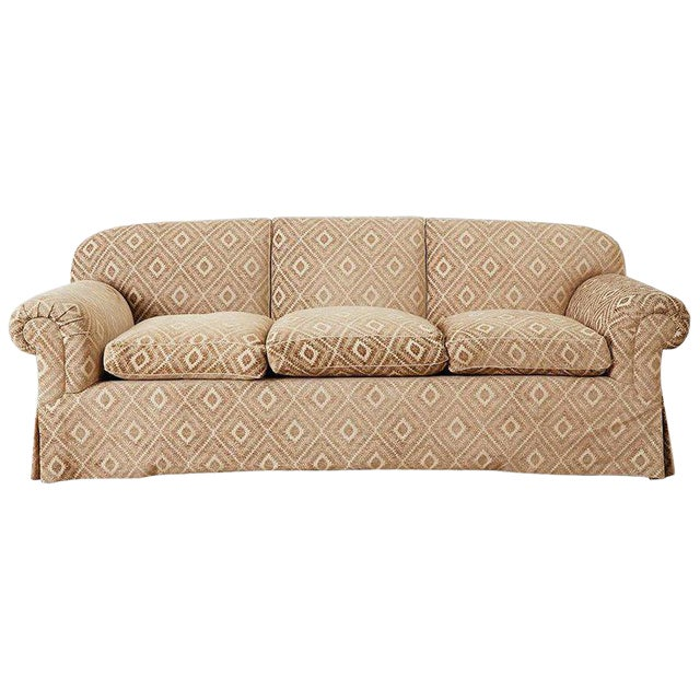 Jonas New York English Style Three-Seat Sofa For Sale