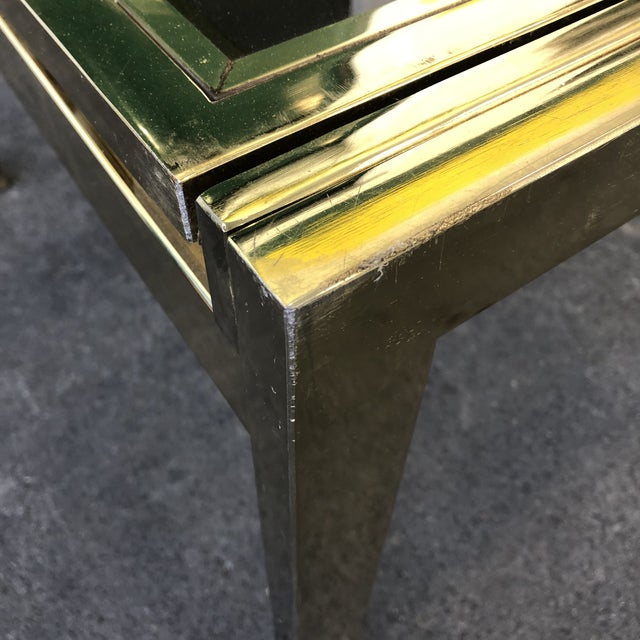 Vintage Dia Brass Lacquer and Glass Expanding Dining Table For Sale - Image 11 of 13