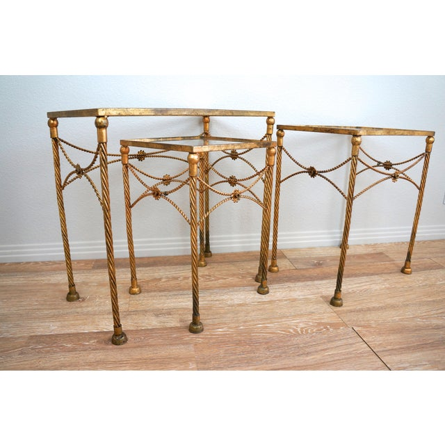 Gold Metallic Nesting Side Tables - Set of 3 - Image 6 of 6
