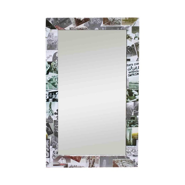 Photo Collage Flat Frame Mirror For Sale
