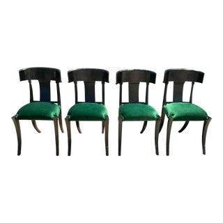 Klismos Style Dining Chairs - Set of 4 For Sale