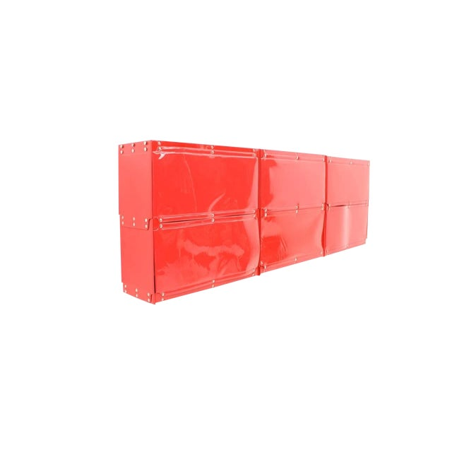 Rare Otto Zapf Red Plastic Shelf System, Germany 1971 InDesign For Sale