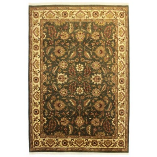 """Indian Hand-Knotted Wool Rug - 6'1"""" X 9' For Sale"""