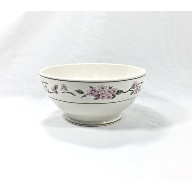 Botanical Ceramic Serving Bowl For Sale In Raleigh - Image 6 of 6
