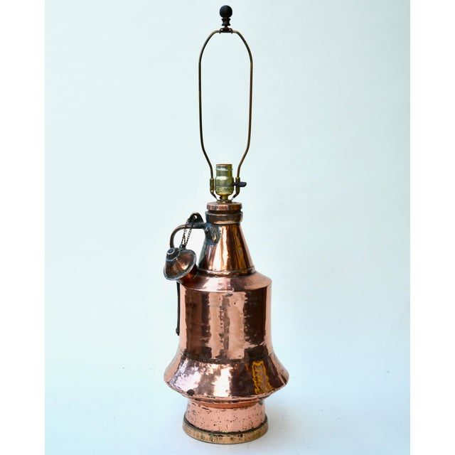 Antique Anatolian Copper Vessel Lamps - A Pair For Sale In Los Angeles - Image 6 of 9