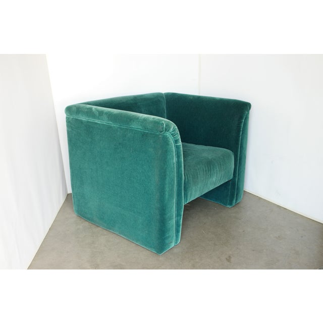 Vintage Blue- Green Mohair Club Chairs - a Pair For Sale - Image 10 of 12