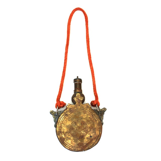 Antique North African Gun Powder Flask For Sale - Image 4 of 5