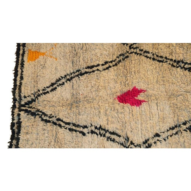 "Moroccan Vintage Beni Ourain Rug - 5'10"" X 8'5"" - Image 2 of 4"
