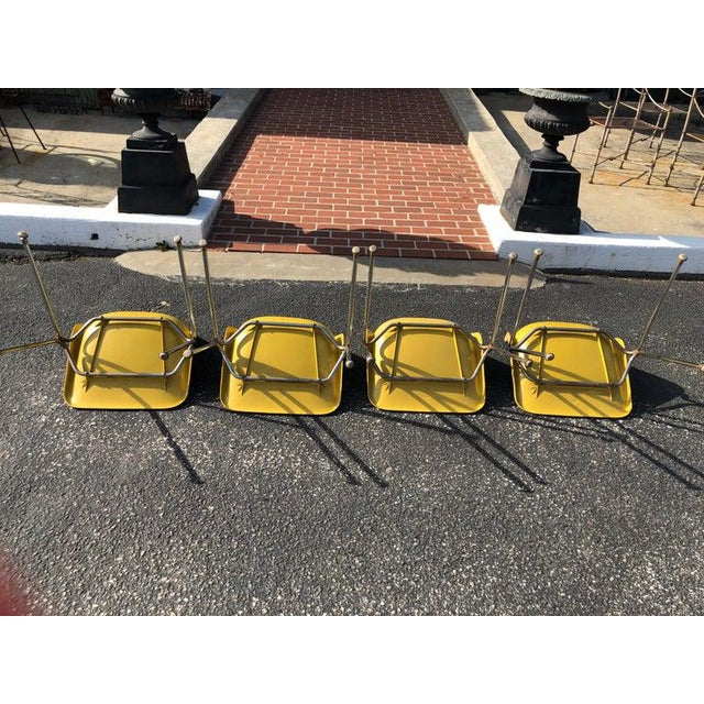 1970s Vintage Yellow Jon Stewart Stackable Shell Chairs- Set of 3 For Sale - Image 10 of 12