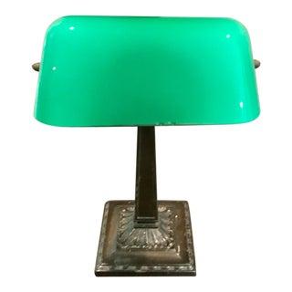 Antique Emeralite Desk Lamp For Sale