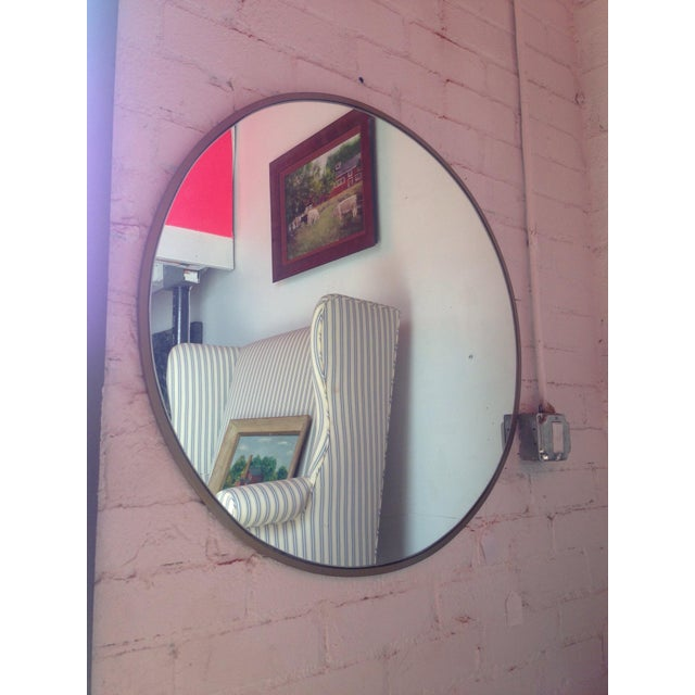 Round Gold Framed Mirror - Image 3 of 5