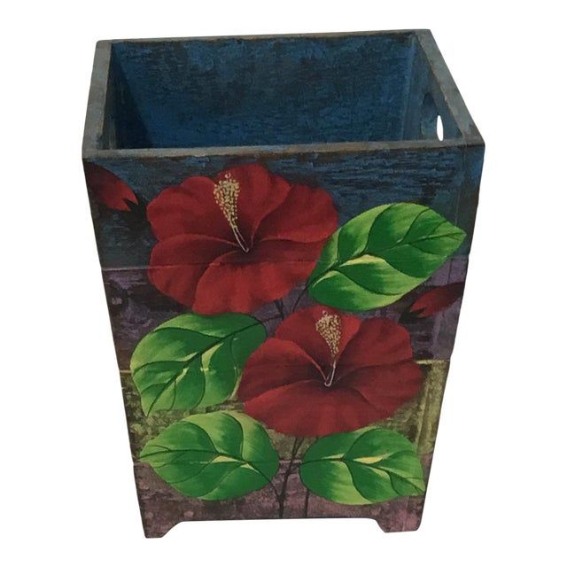 Wooden Waste Bin from Bali - Image 1 of 4