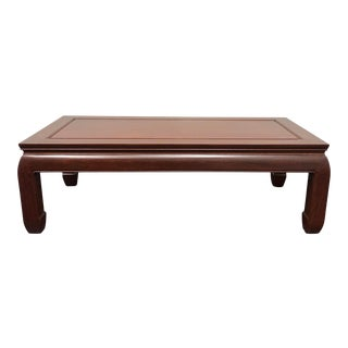 George Zee Hong Kong Solid Rosewood End Coffee Table For Sale