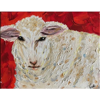 Confetti Lamb Acrylic Painting For Sale